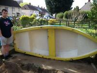 10ft X 4ft Double skinned glassfibre rowboat tender for sale