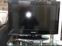 """Samsung 26"""" TV with glass stand"""