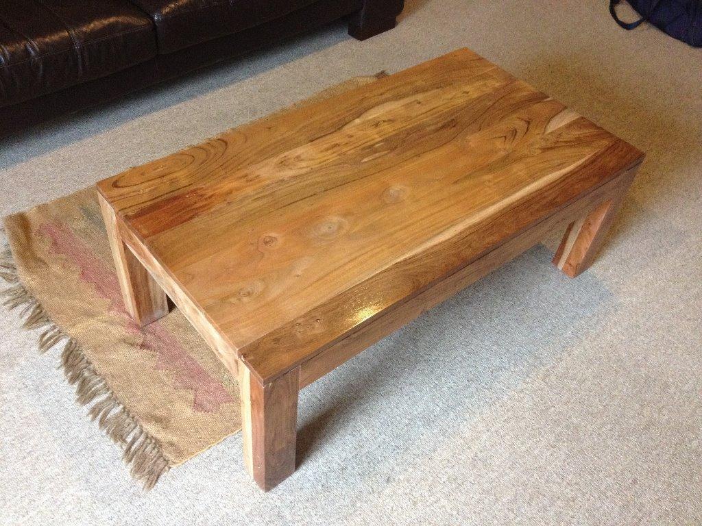 Acacia Wood Coffee Table In Aston Clinton Buckinghamshire Gumtree