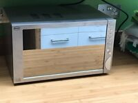 Swan stylish mirrored & stainless steel microwave oven