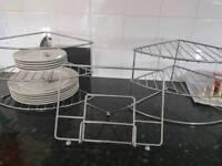 Plate racks and recipe book holder