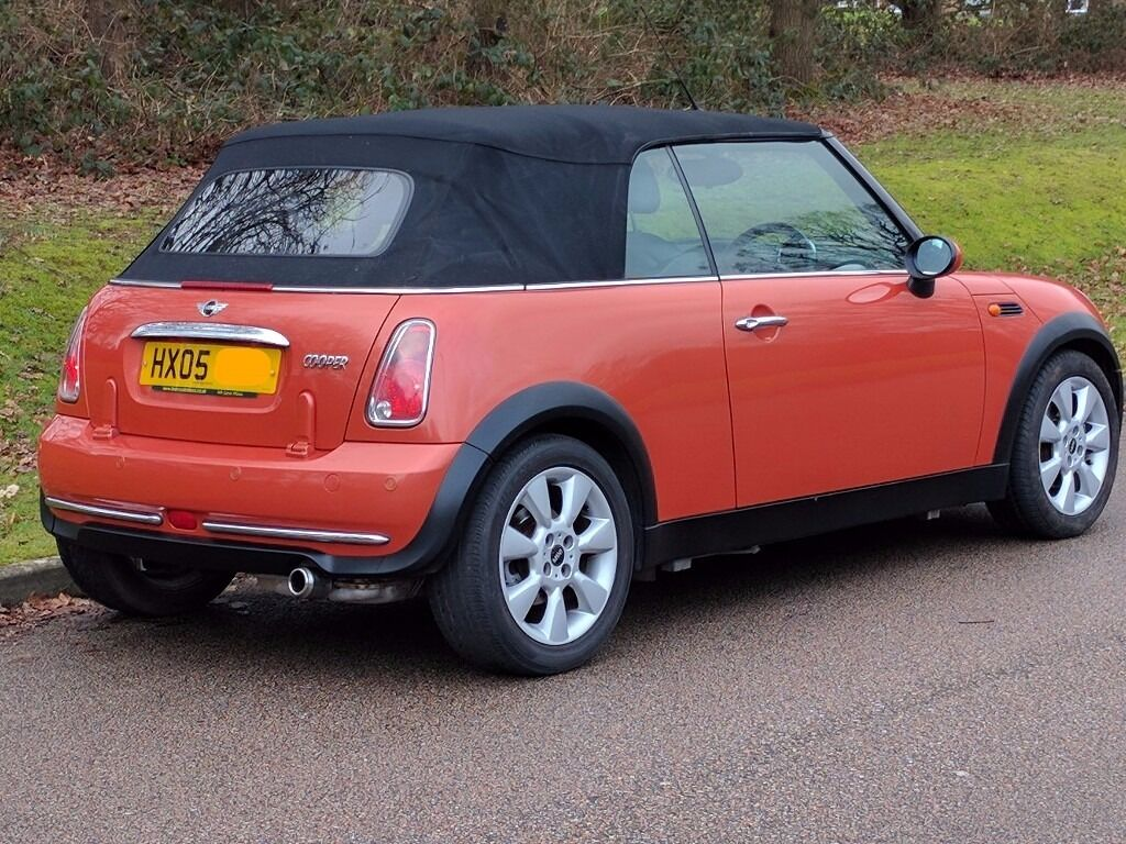 2005 Bmw Mini Cooper Convertible In Hot Orange Limited Edition With Chili Pack