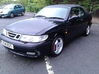 X REG SAAB 93 2.0 LTR TURBO AERO CONVERTIBLE LEATHER IMMACULATE