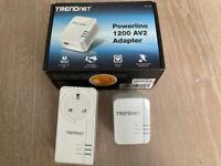 2 TRENDnet Powerline TPL-421E TPL-420E 1200 AV2 Adapter