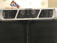 carlsbro power amp for dj pa party disco