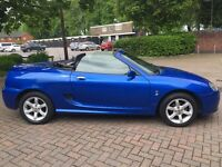 MG TF 1.8 Convertible Low Mileage 2003 in Striking Blue BF53 MKK 57,000 miles