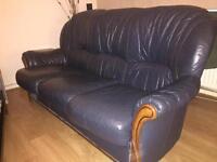 Quick Sale BARGAIN Leather Sofa Set, 3 piece GOOD condition