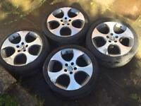 "Genuine Volkswagen VW Golf Monza 2 18"" alloy wheels alloys"