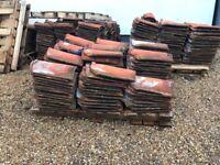 "Reclaimed Red Norfolk Pan Tiles Pan Tiles Roof Pantiles Approx. 1000+ 14"" x 9.5"""