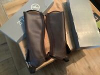 Agile medium width long new chaps brown leather