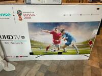 65'' hisense TV with wallbracket