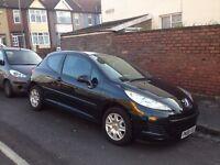 For Sale. Black Peugeot 207. Good condition. £1800