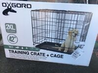 """A brand new unopened dog cage, size 42"""" 2 x XL with 2 doors"""