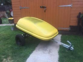 LOVELY RARE CAR ROOF BOX TRAILER - ERDE - FISHING CAMPING BOOTSALES