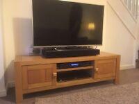 NEXT Solid oak TV unit