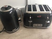 Breville kettle and toaster black and silver