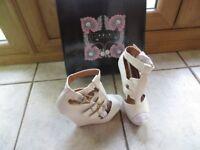 un worn designer ladies shoes
