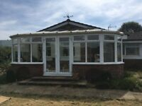 Large pre owned white UVPC conservatory