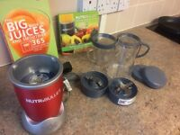 Brand New Red NutriBullet - Unused + 1 large cup, 2 choppers + 2 cups/ Lisa + 2 Books