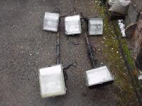 Five 70w osram floodlights