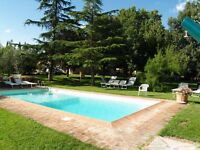 owner direct appartment with shared pool free wifi inTuscany near Florence on July and August