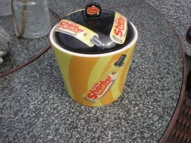 SHERBET JAR WITH LID AND TAG