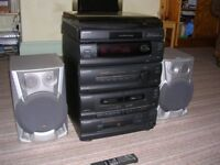 Sony Music Centre with Deck for Vinyl 33rpm + 45rpm, am/fm tuner, CD player, twin tape decks.