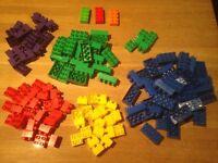 Bag of MEGA BLOCKS (same as Lego Duplo) basic bricks. About 1kg