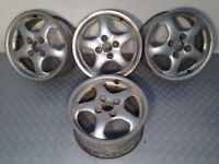 "Alutec 4x100, 15"", 7J deep dish ALLOY WHEELS, Original, not bbs, borbet, aez, zender tm"