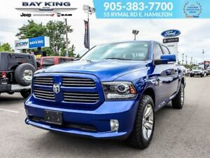 2016 Ram 1500 SPORT, 4X4, BACKUP CAM, REMOTE START, BLUETOOTH