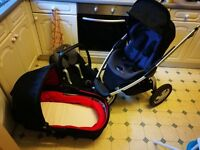 10 month old car seat, pram and seat and additional brand new carrycot and mattress