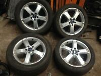 Ford Focus Alloy wheels. Full set inc tyres. May Px ask.
