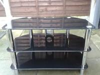 black tv stand only 12 month old very good condition