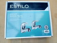 Pair of Estilo Ascot Basin Taps Hot & Cold - £20 each - 4 pairs available