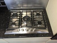 Gas hob 5 rings with wok ring