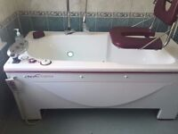 Reval Caprice Variable Height Bath with Hoist & Transfer System (Left or Right Hand)