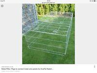 Large silver metal rabbit run for sale bargain £45 Ono