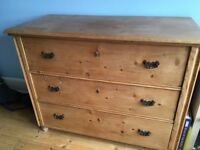 Extra large antique pine chest of drawers (2). Great condition.