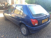 1994 Ford Fiesta Ghia 1.6L injection 5 door saloon blue, clutch needs replacing
