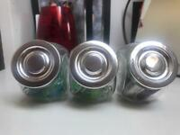 3 little jar glasses
