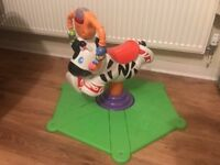 Spin and bounce zebra Fisher Price