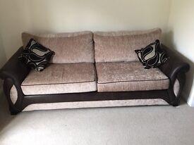DFS Myriad 4 Seater Formal Back Sofa With 2 Cushions