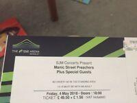 4 Manic Streel Preachers tickets Wembley London 04/05/2018