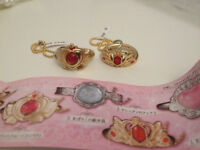 Sailor Moon rings (Japan) - set of 2 - Serenity's tiara and Crisis Moon Compact