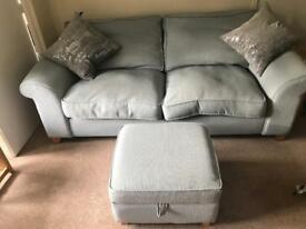 3 Seater DFS Sofa and Storage Footstool