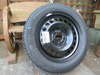spare wheel and Tyre for vauxhall insignia Michelin 225/55/R17 brand new its a 5 stud metal wheel