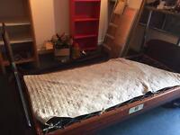 2 x Antique wooden single beds