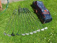 Golf clubs with bag and practice balls - Vintage