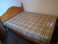 Urgent sale wood bed king size with matress