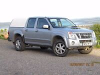 07/57 ISUZU RODEO 2.5 T.D, DOUBLE CAB, 1 OWNER, HISTORY, LOW MILEAGE , CANOPY
